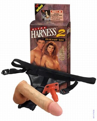 Strap-On Ultra Harness 2 met 18 cm Dong