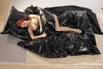 Wasbaar massage laken, zwart, 230 x 200